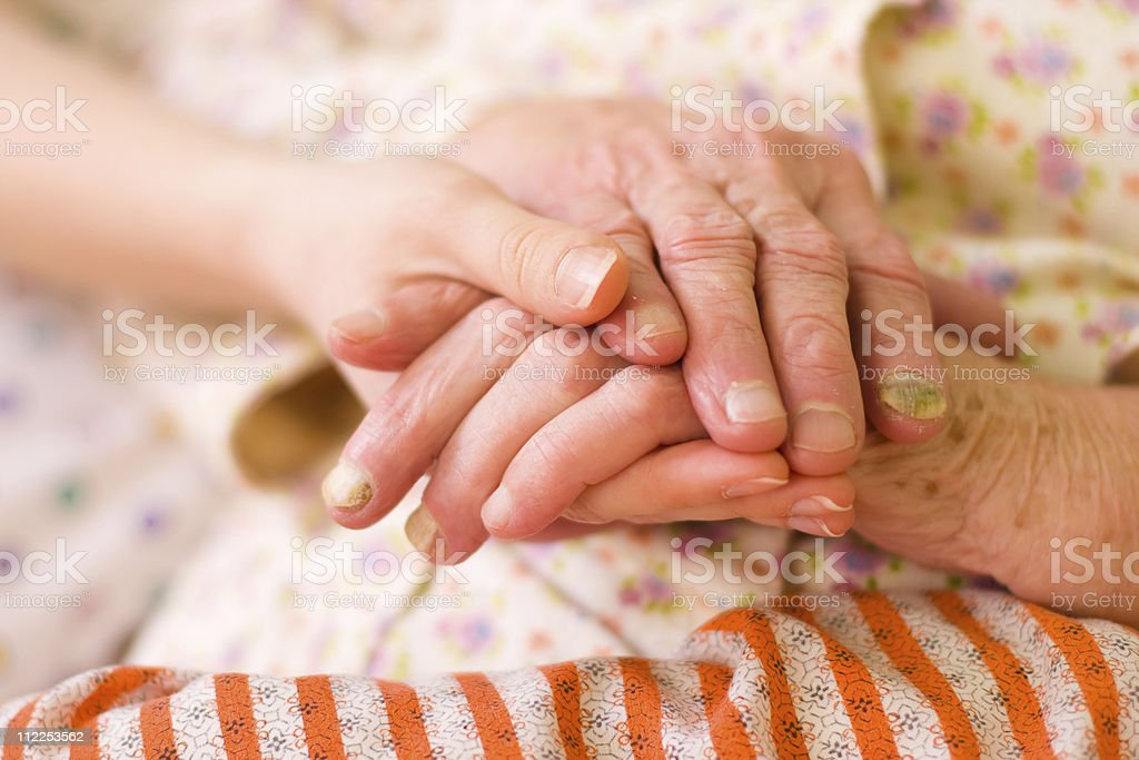 Caring hands - helping the needy royalty-free stock photo