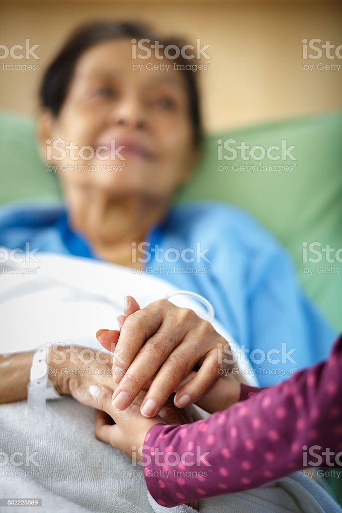 Caring hands stock photo