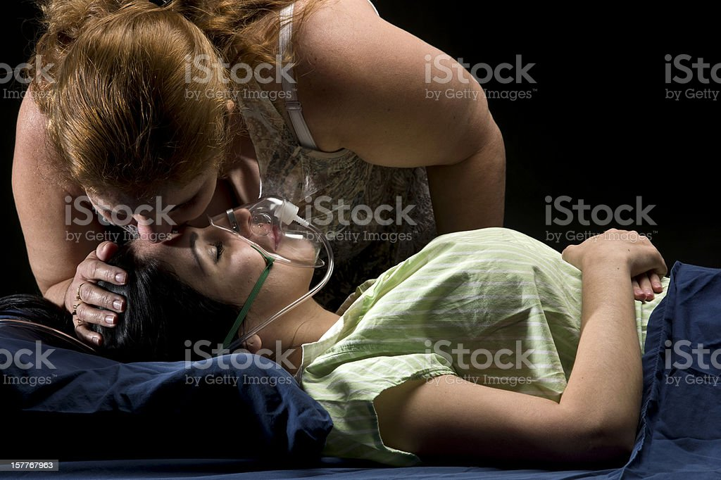 Caring mother royalty-free stock photo