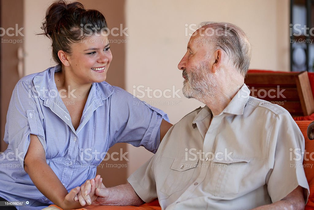 caring nurse royalty-free stock photo