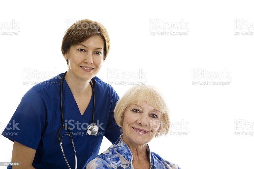 Caring Nurse royalty-free stock photo