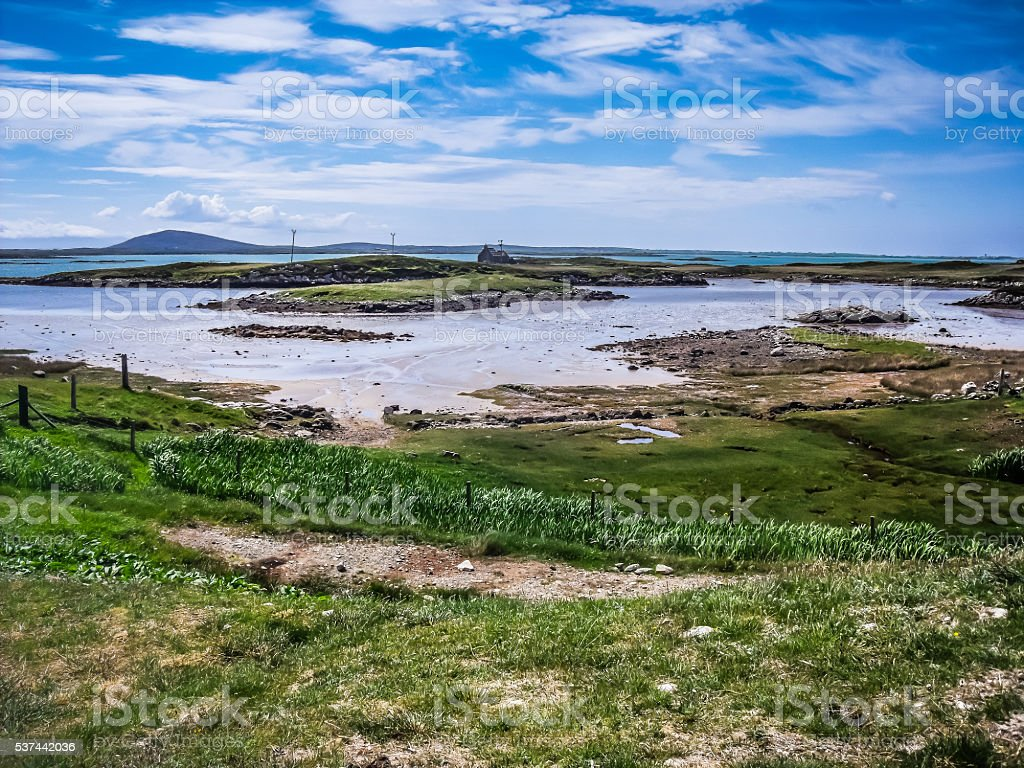 Carinish Beach, North Uist, Outer Hebrides, Highlands, Scotland stock photo