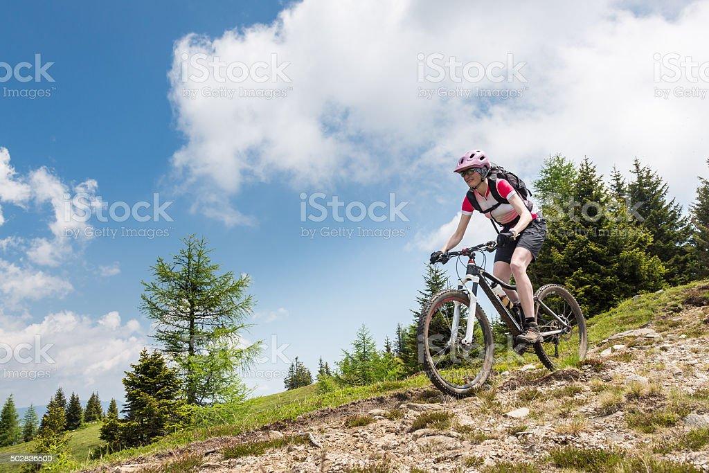 Carinthian Downhill Biking, Austria stock photo