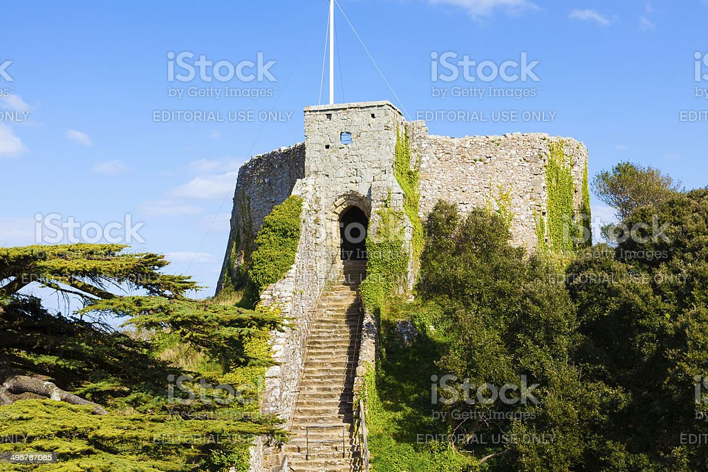 Carisbrooke Castle Isle Of Wight stock photo