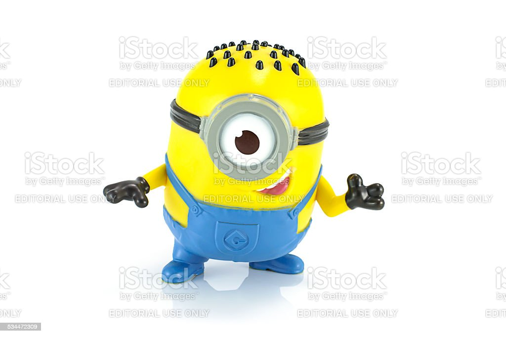 Carl Minion Mcdonalds happymeal toy stock photo