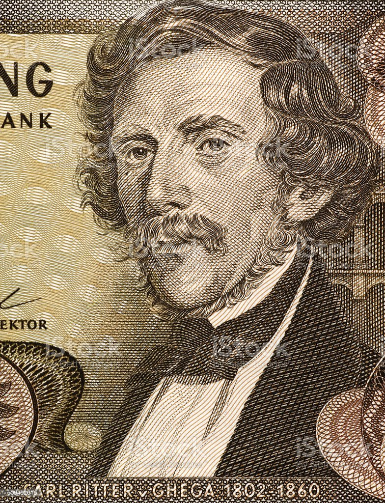 Carl Ritter von Ghega stock photo