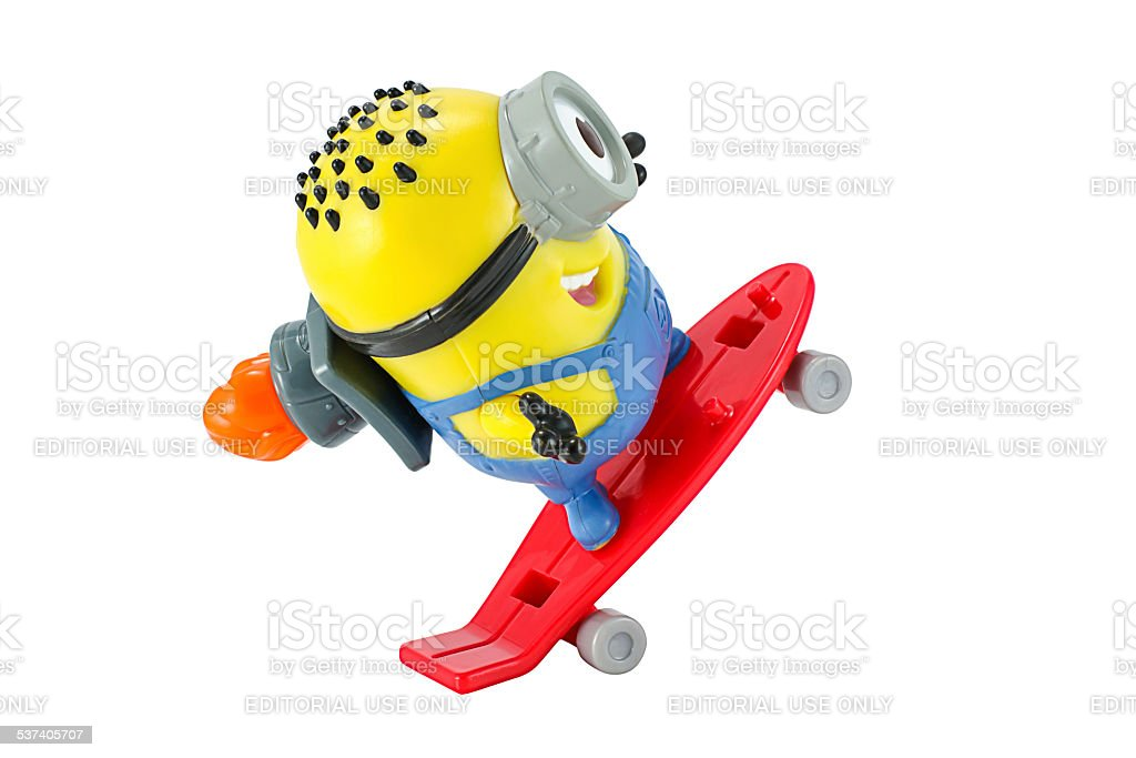 Carl rocket Minion toy stock photo
