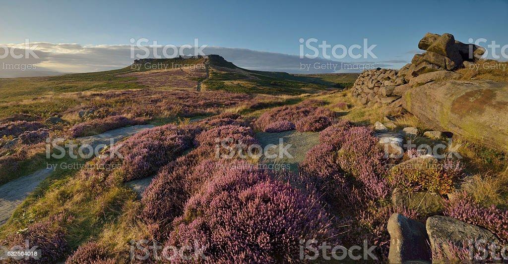Carl Wark and Higger Tor, Peak District stock photo