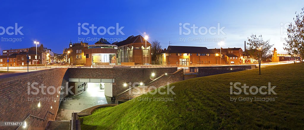 Carlisle at Night stock photo