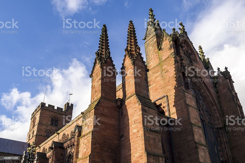 Carlisle Cathedral - from the southeast stock photo