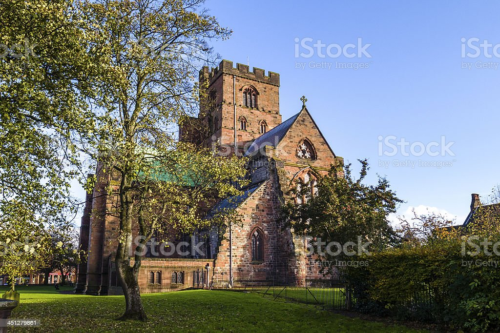 Carlisle Cathedral - from the west stock photo