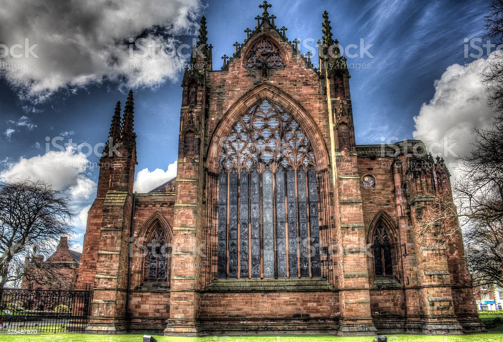 Carlisle Cathedral HDR stock photo