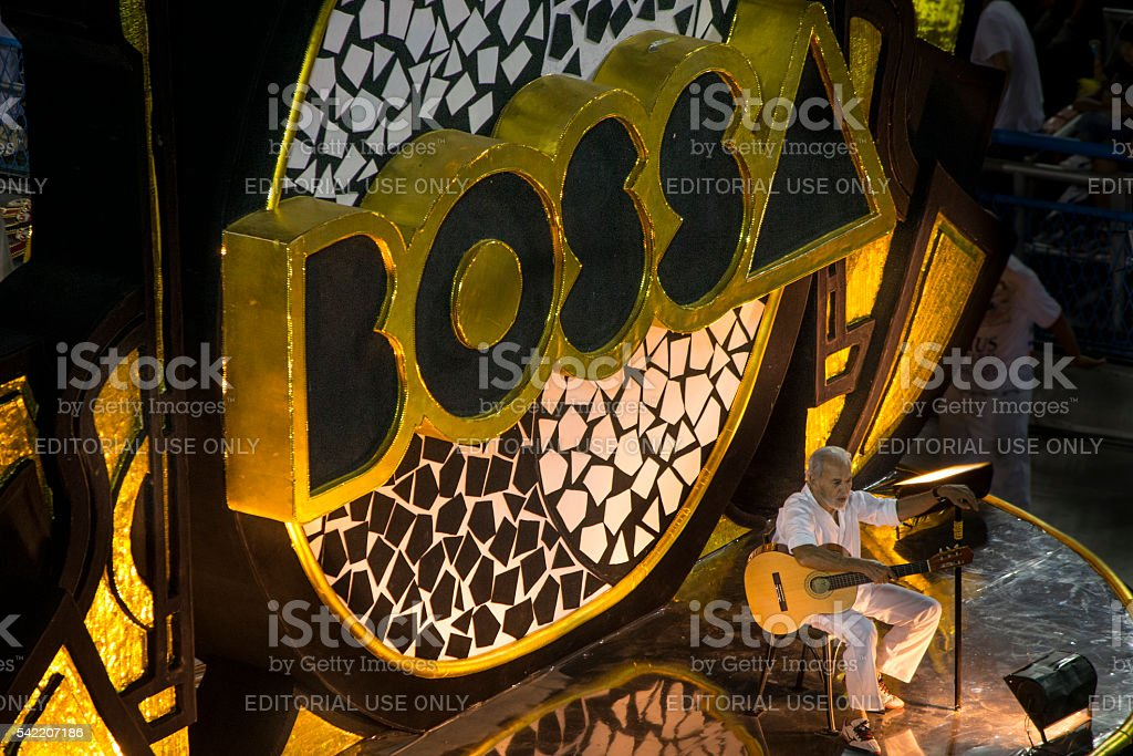 Carlos Lyra Bossa Nova Carnival Float stock photo