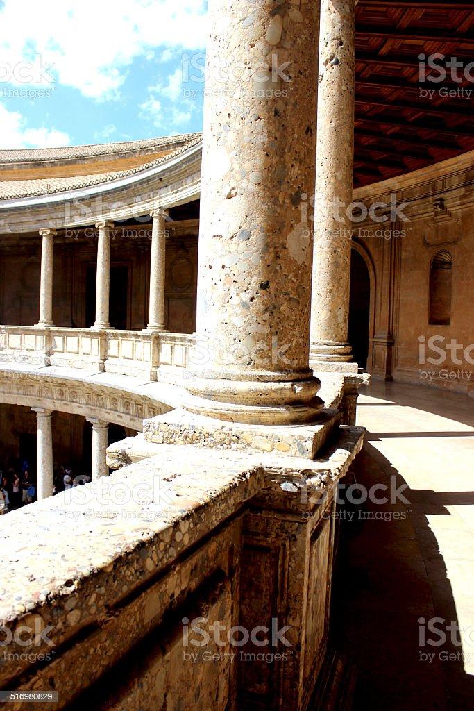 Carlos V Granada stock photo