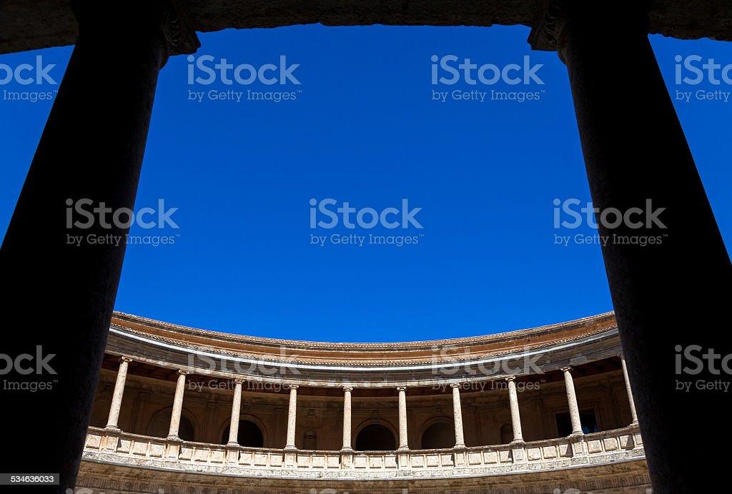 Carlos V Palace stock photo