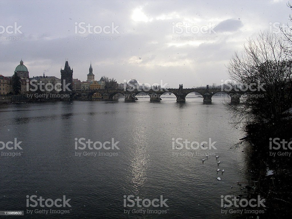 Carlov Bridge royalty-free stock photo