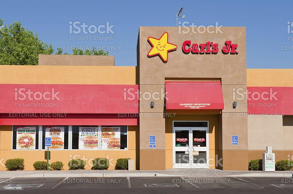 Carl's Jr. Fast Food Restaurant stock photo