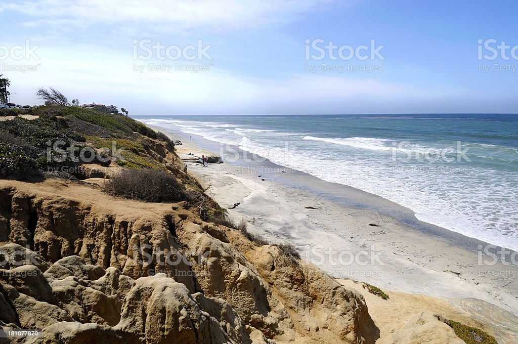 Carlsbad Beach Scenic - San Diego royalty-free stock photo