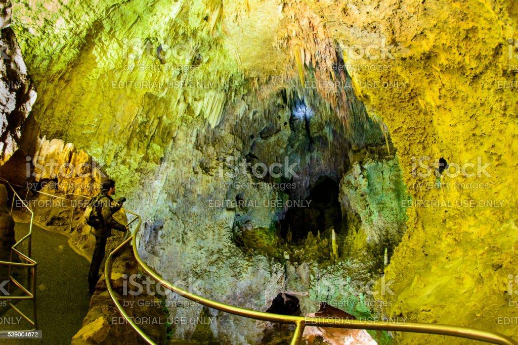 Carlsbad Cavern explorer royalty-free stock photo