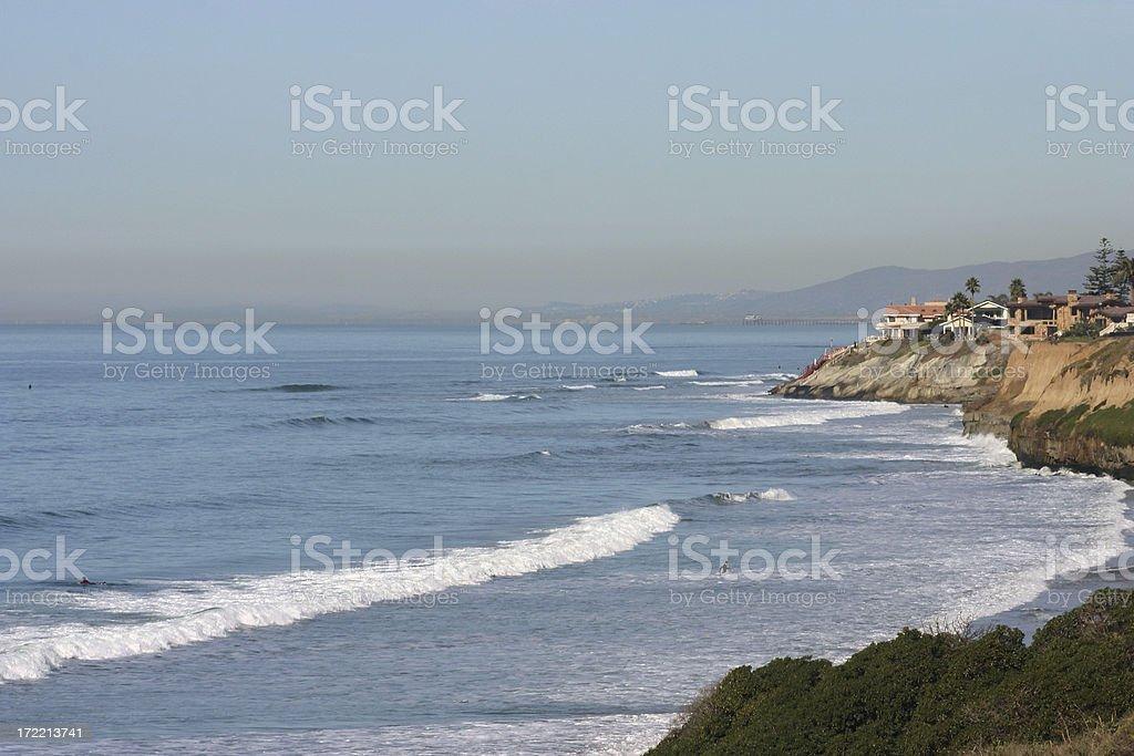 Carlsbad coastline royalty-free stock photo