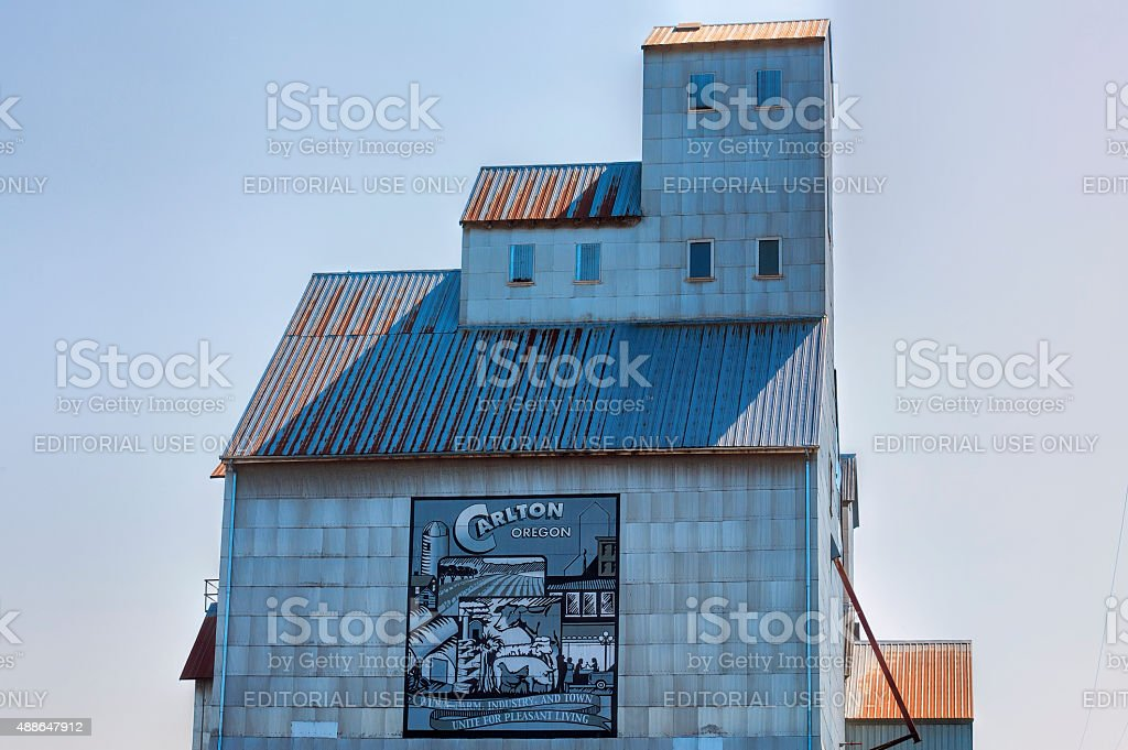 Carlton City In Yamhill County Wine Country stock photo