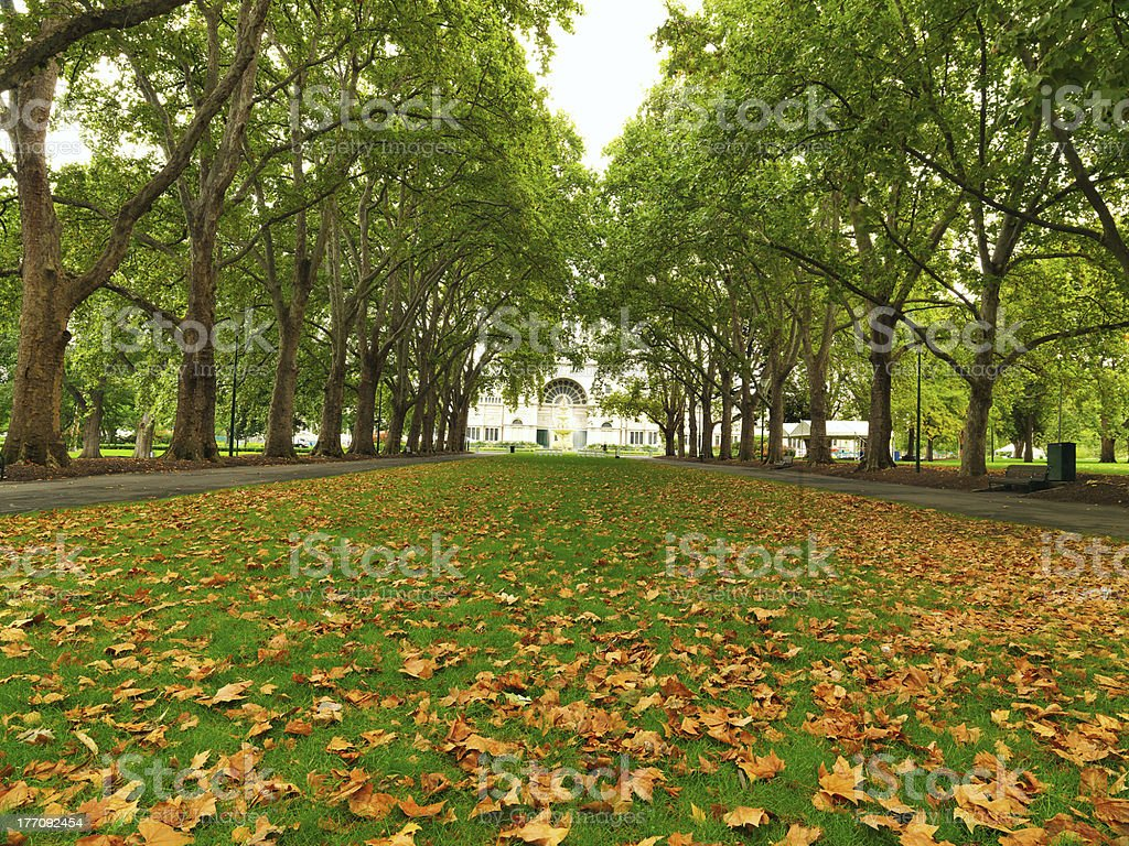 Carlton Garden in Melbourne stock photo