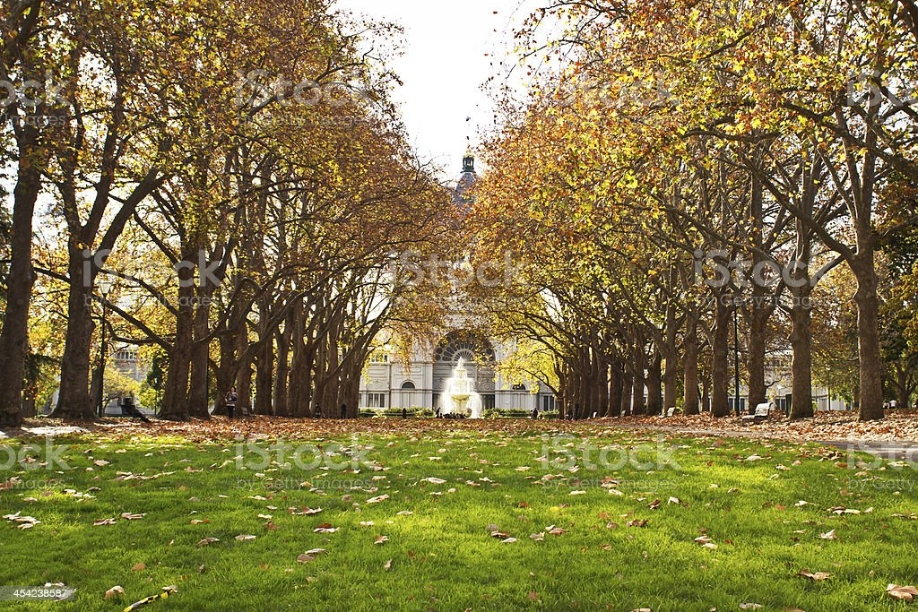 Carlton Gardens. stock photo