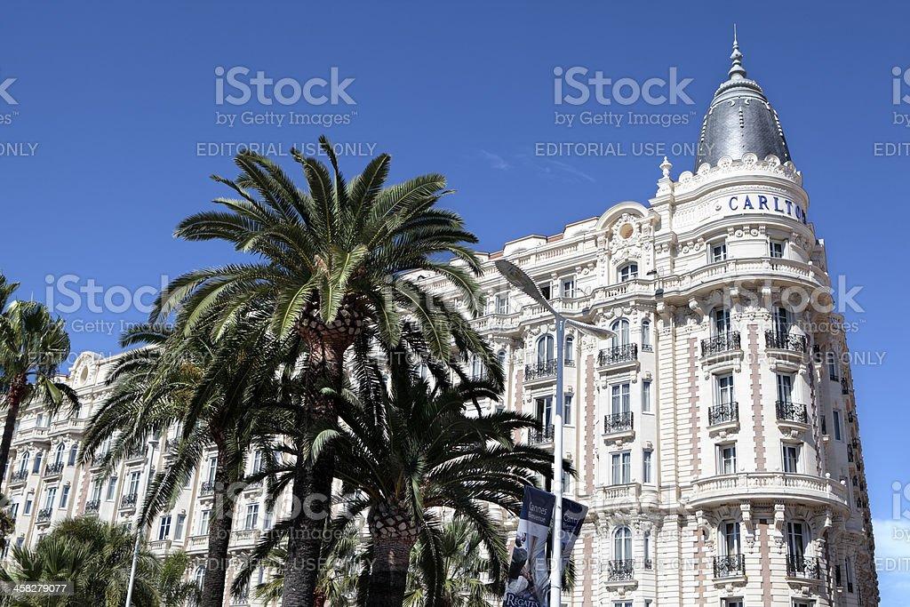 Carlton International Hotel, Cannes stock photo