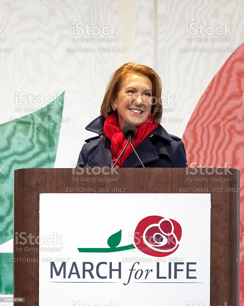 Carly Fiorina at March for Life royalty-free stock photo
