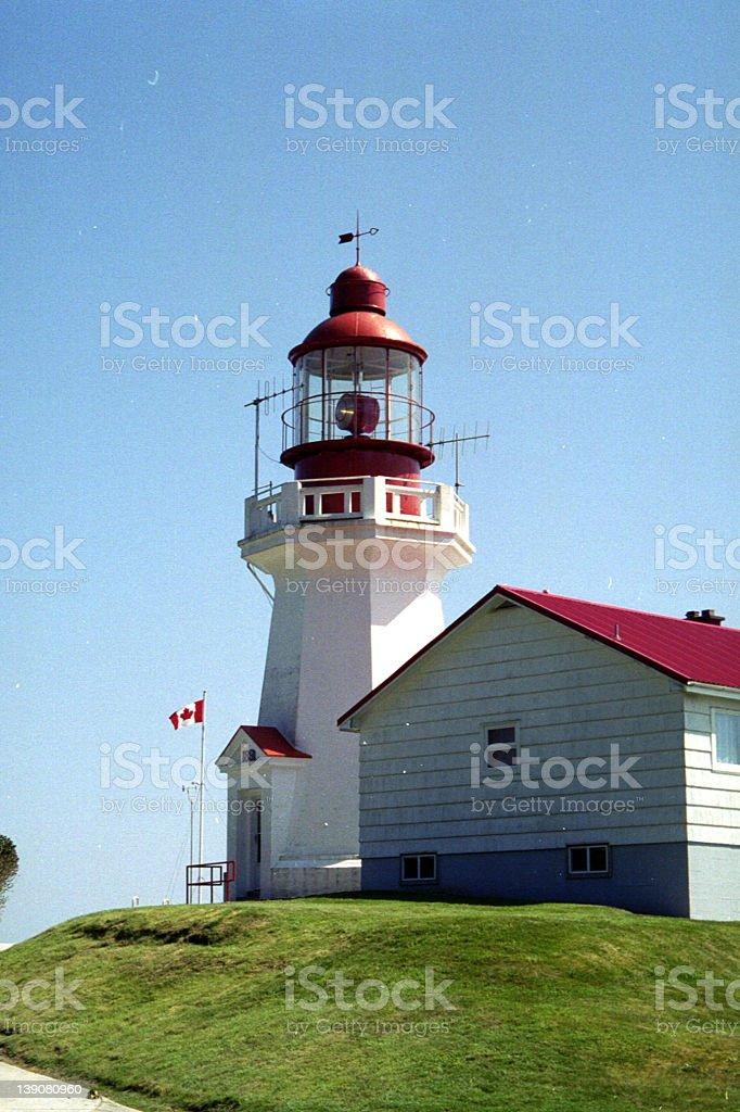 Carmannah Lighthouse stock photo