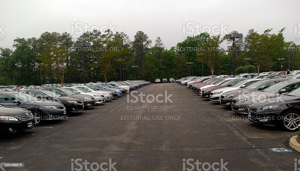 CarMax Lot Richmond Virginia stock photo