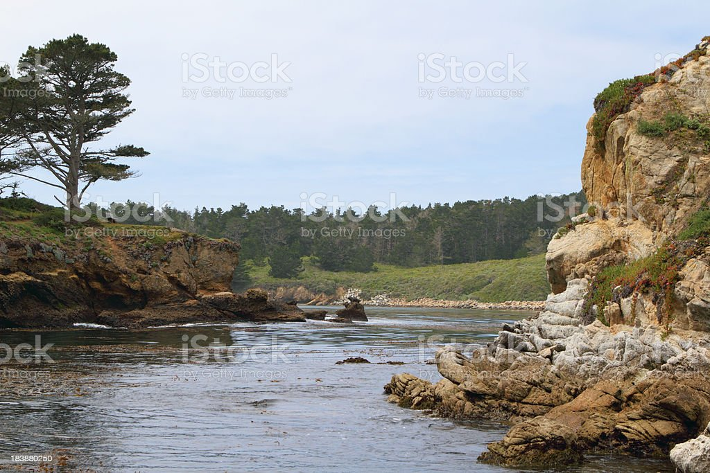 Carmel bay stock photo