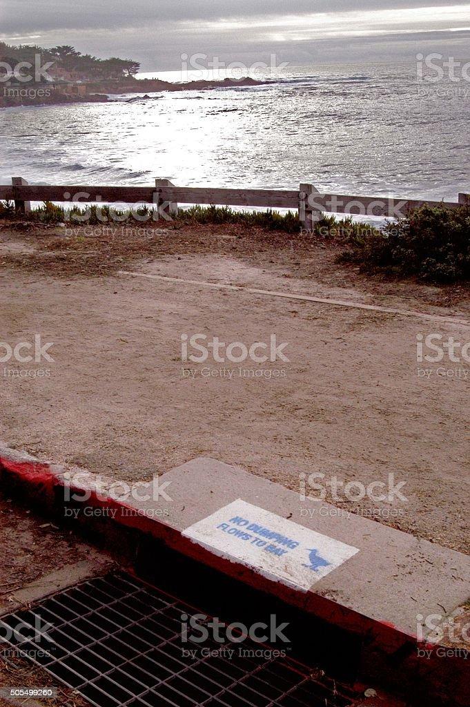 Carmel, CA sewer stock photo