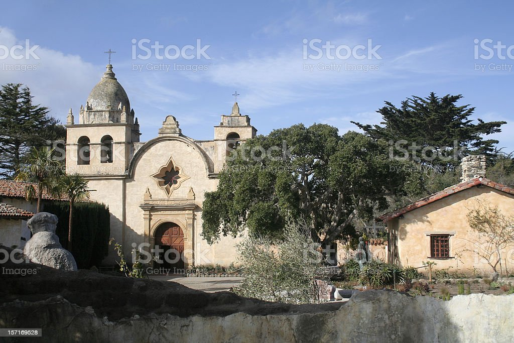 Carmel Mission Courtyard royalty-free stock photo