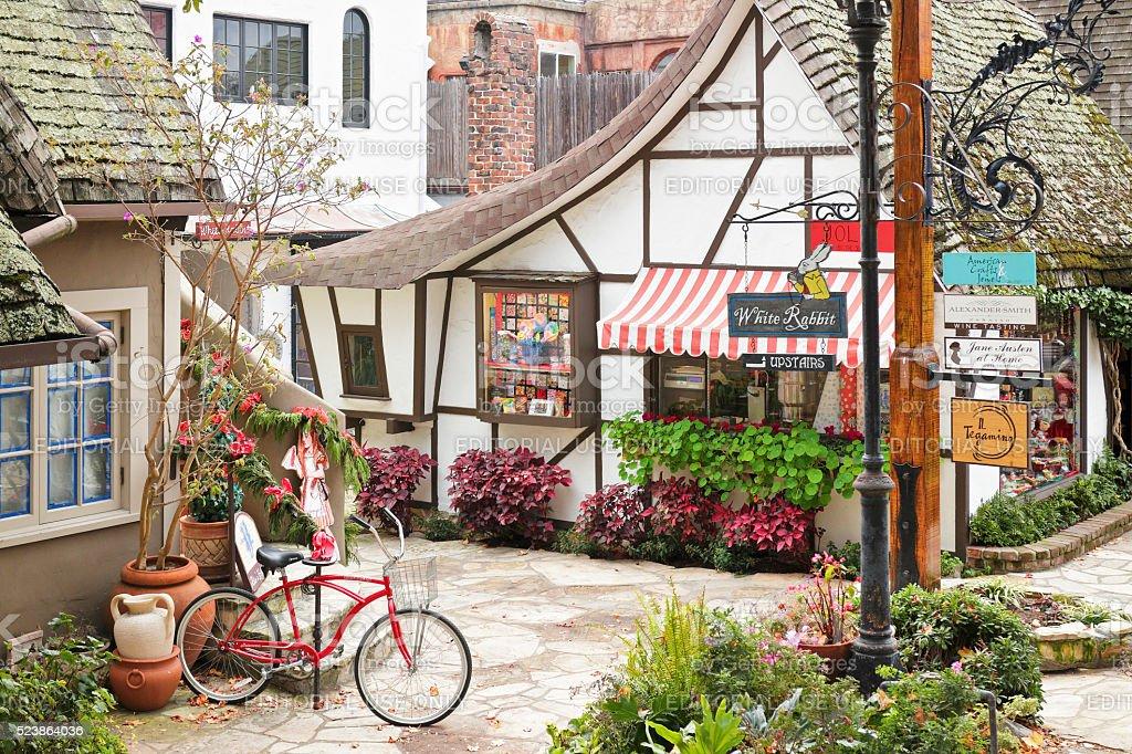Carmel Street Scene stock photo
