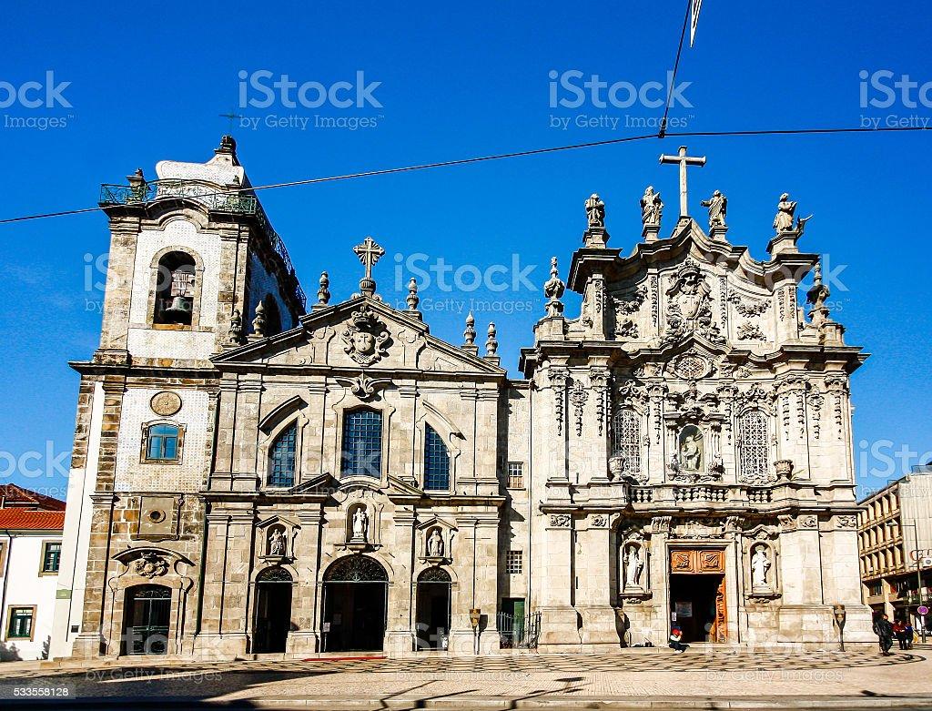 Carmelitas Church and Carmo Church in Porto stock photo