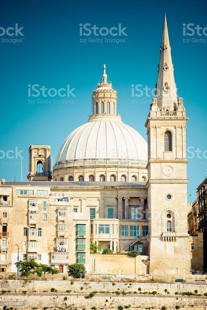 Carmelite Church Valletta Malta Island royalty-free stock photo