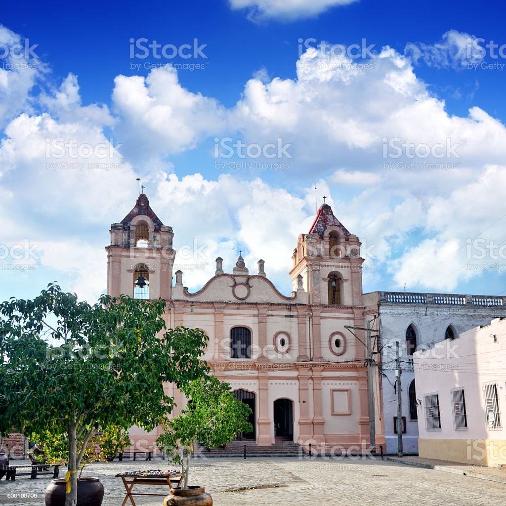 Carmen church, Camaguey stock photo