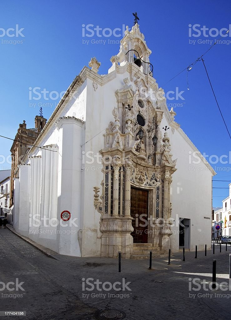 Carmen church, Estepa, Spain. stock photo