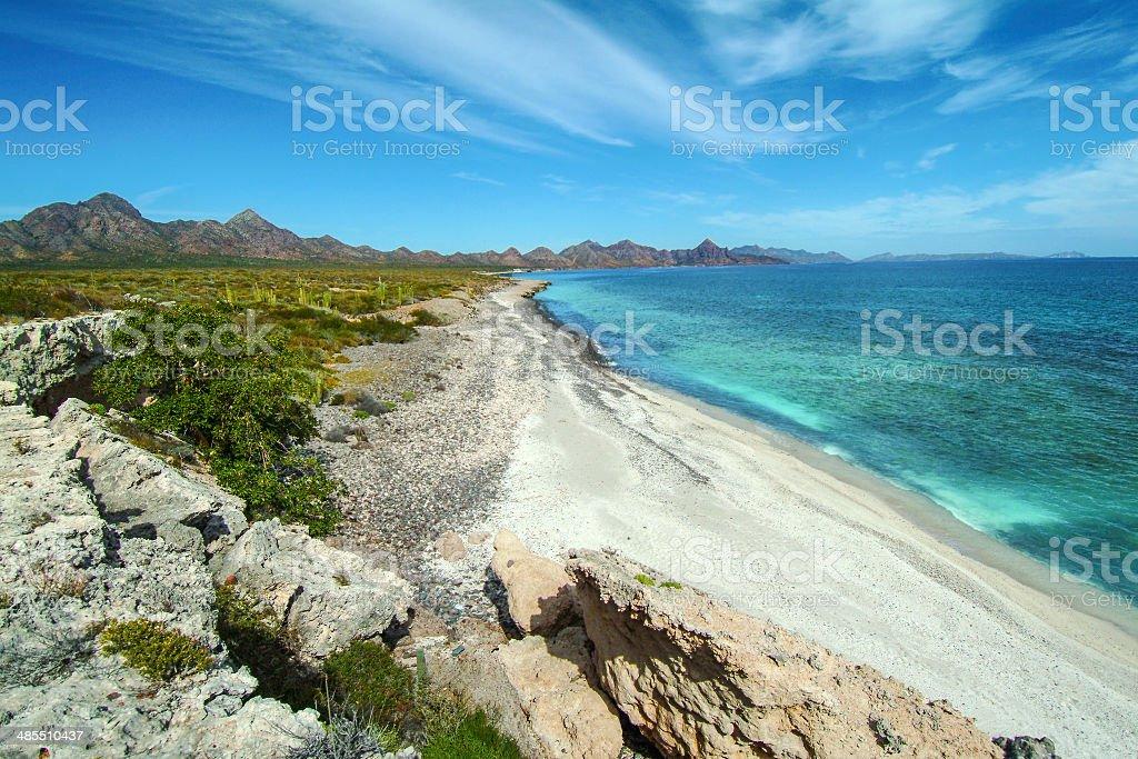 Carmen Island Beach stock photo