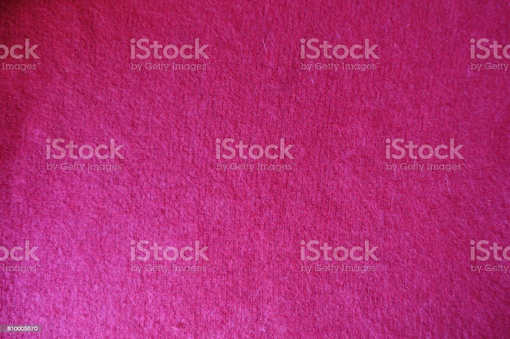 Carmine handmade simple stockinet fabric from above stock photo