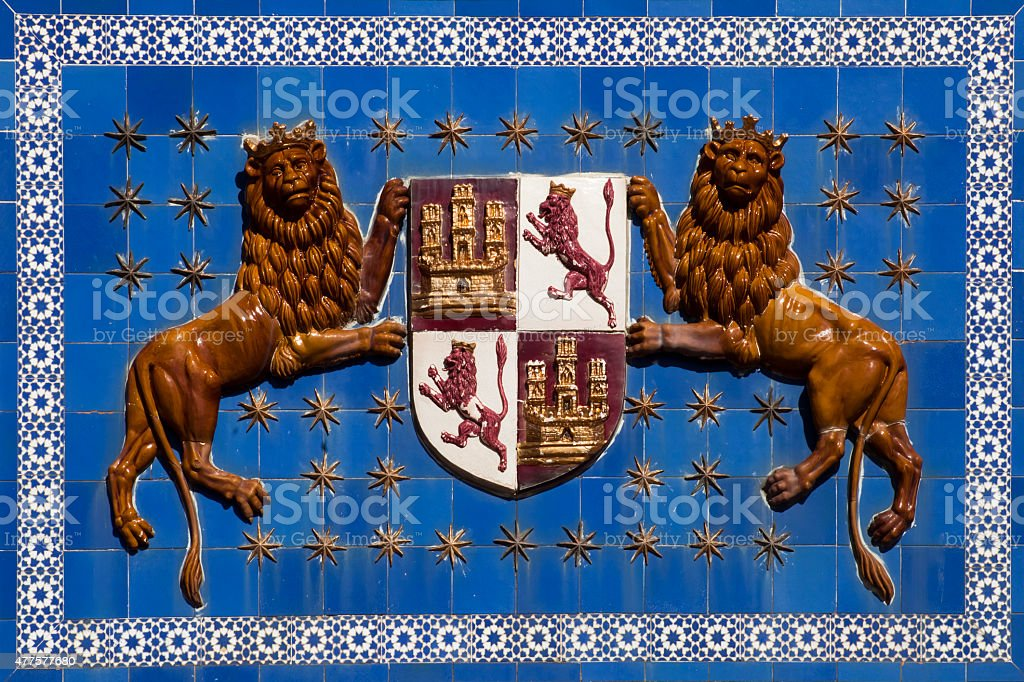 Carmona coat of arms, Seville province, Spain. stock photo