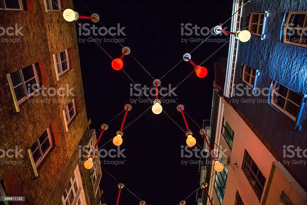 Carnaby Street by Night stock photo