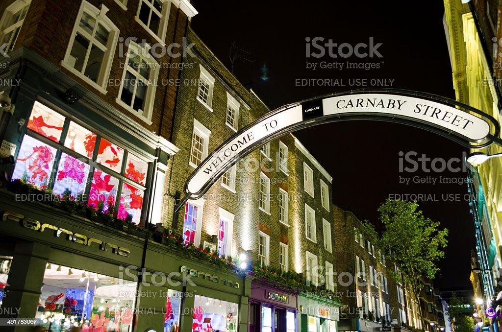 Carnaby Street, London stock photo