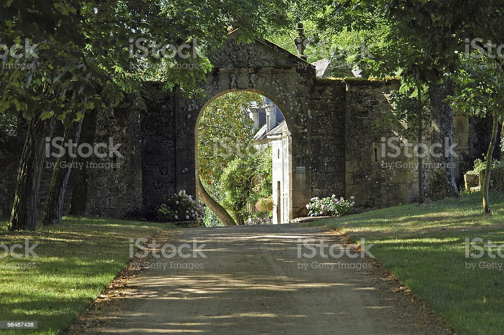 Carnac (Morbihan, Brittany, France) - Dirt road and arch royalty-free stock photo