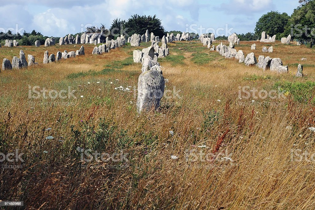 Carnac - Menhirs, les Alignements stock photo