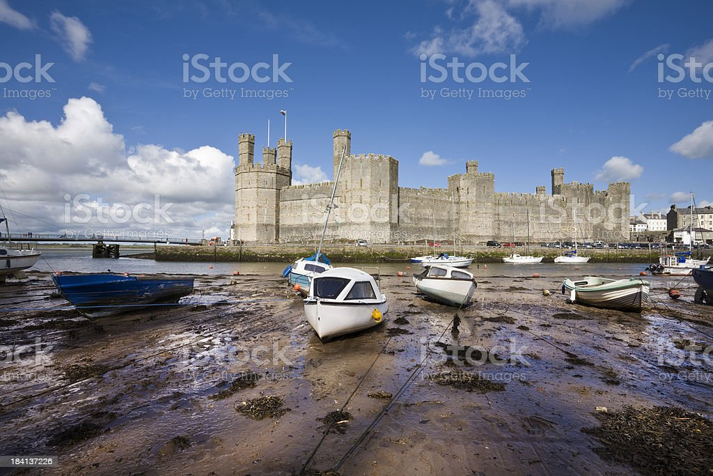 Carnarvon (Caernarfon) Castle in North Wales stock photo