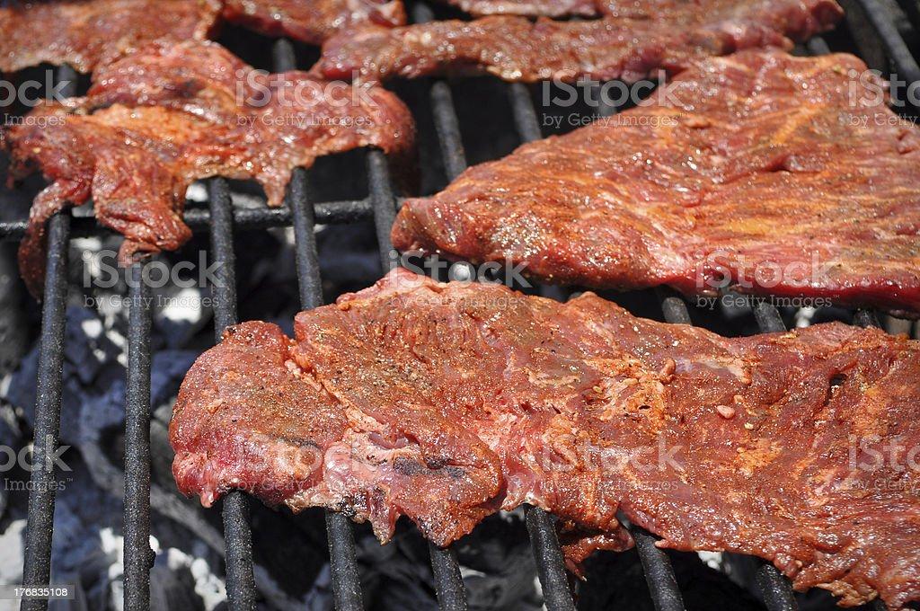 Carne Asada on the Grill stock photo