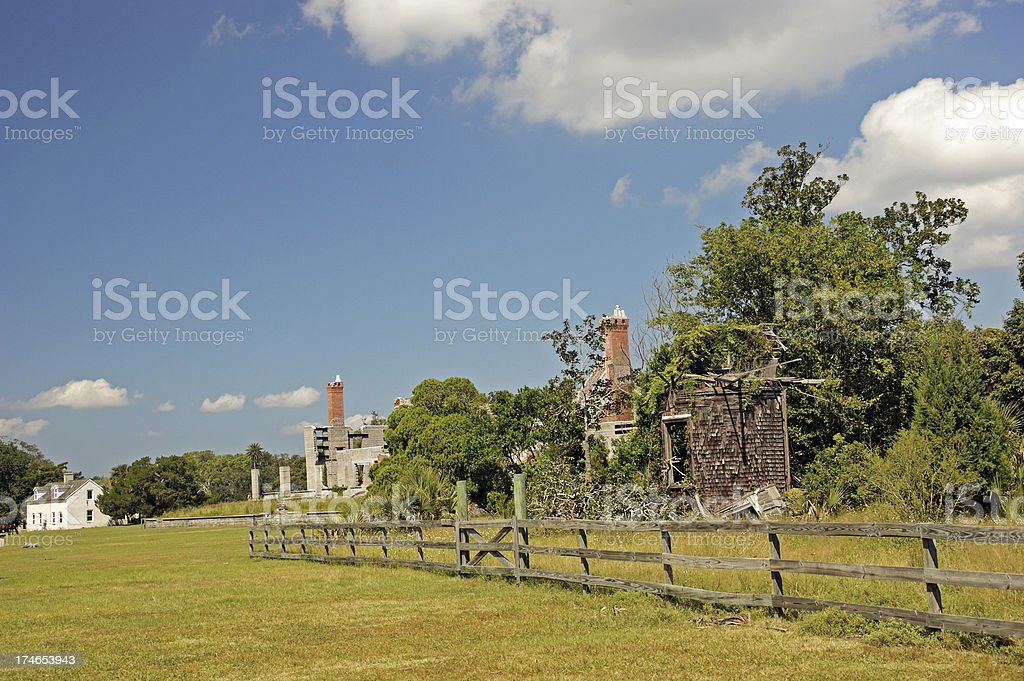 Carnegie Estate Ruins on Cumberland Island Georgia stock photo