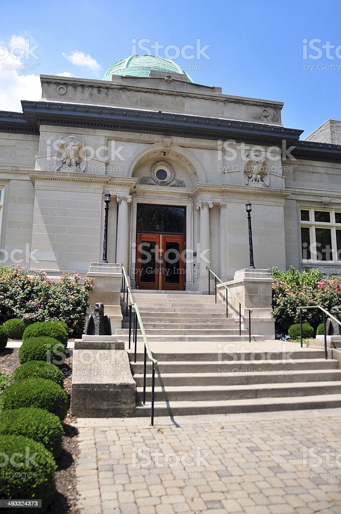 Carnegie Library building, Jeffersonville, IN stock photo